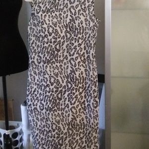 Evan Picone Sleeveless Animal Print Dress